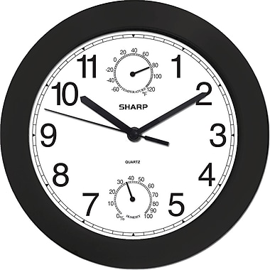 MZ Berger SPC956 Plastic Analog Wall Clock, Black