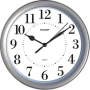 MZB SPC957 Sharp 8 1/4 Round Wall Clock, Silver