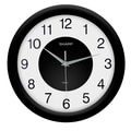 MZB SPC959 Sharp 12in. Quartz Analog Wall Clock, Black
