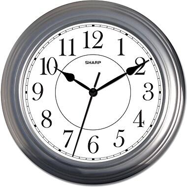 MZ Berger SPC962 Metal Analog Wall Clock, Silver