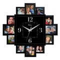 MZB WAC848 15 1/4in. Waltham Wall Clock With Photo Slots, Black