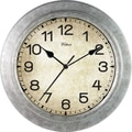MZB WAC902 12in. Waltham Wall Clock, Galvanized