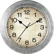 MZ Berger WAC902 Analog Wall Clock, Silver