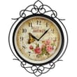 MZ Berger WAC903 Metal Analog Wall Clock, Black