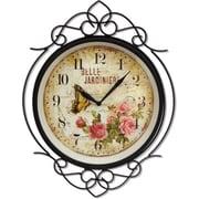 MZ Berger WAC903 Metal Analog Wall Clock, Black