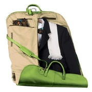 Royce Leather Royce Leather Garment Bag Travel Luggage in Genuine Leather; Key Lime Green
