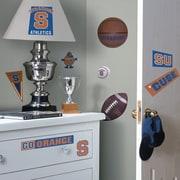 Room Mates Collegiate Sports 22 Piece Appliqu  Syracuse Orange Wall Decal Set