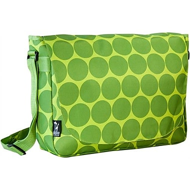 Wildkin Big Dots Laptop Messenger Bag; Green
