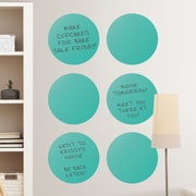 Brewster Home Fashions WallPops Dry-Erase Dot Whiteboard Wall Decal (Set of 6); Teal