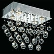 Elegant Lighting Galaxy 4 Light LED Ceiling or Semi Flush Mount; Strass Swarovski