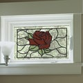 Brewster Home Fashions Rose Stained Appliqu  Window Sticker