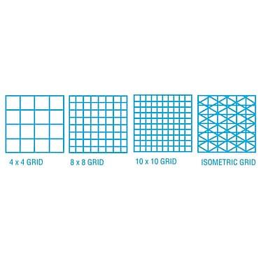 ClearPrint 1000HP Series Vellum Design and Isometric Grid Sketch; 0.5'' H x 11'' W x 17'' D