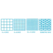 ClearPrint 1000H Series Vellum Grid Sheet (Set of 10); 0.5'' H x 36'' W x 24'' D