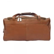 Piel Blushing Red Collection Traveler's Select 18'' Small Duffel Bag; Saddle