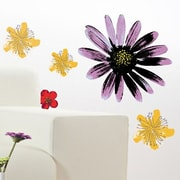Brewster Home Fashions Spirit Painted Flowers Wall Decal