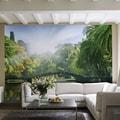 Brewster Home Fashions Ideal Decor Bridge in Sunlight Wall Mural