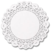 HOFFMASTER 5 inch Round Brooklace Lace Doilies in White