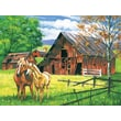 Reeves Paint By Numbers Large Red Barn Painting