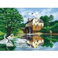 Reeves Paint By Numbers Large Watermill Painting