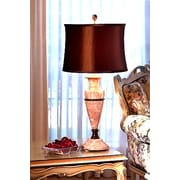 Lex Lighting Amber 32'' H Table Lamp with Drum Shade