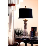 Lex Lighting Taupe Gray 32'' H Table Lamp with Drum Shade