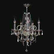 Worldwide Lighting Provence 5 Light Crystal Chandelier; Golden Teak