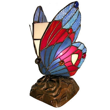 Warehouse of Tiffany Butterfly Accent 9.5'' Table Lamp