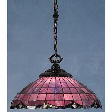 Meyda Tiffany Victorian Nouveau 1 Light Bowl Pendant