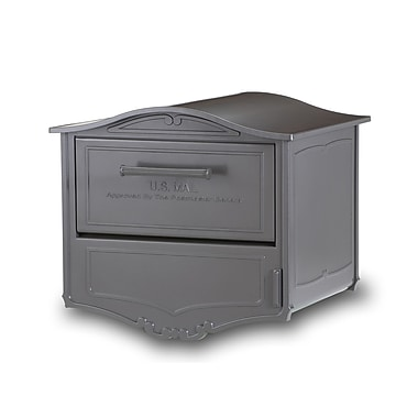 Architectural Mailboxes Geneva Locking Post Mounted Mailbox; Bronze