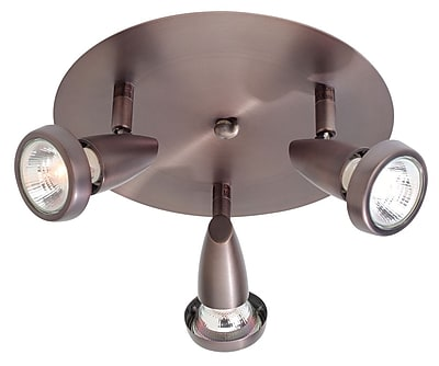 Access Lighting Mirage 3 Light Semi-Flush Mount; Bronze WYF078276499102