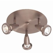 Access Lighting Mirage 3 Light G Cluster Spot Light; Brushed Steel