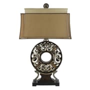 Cal Lighting Donut 31'' H Table Lamp with Drum Shade