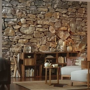 brewster home fashions komar stone wall mural staples 174 brown stone wall wall mural 12 wide by 8 high ebay