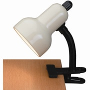 Lite Source Gooseneck Reading 12'' H Table Lamp with Bowl Shade; Ivory