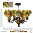 Jezebel Gallery Signature 4 Light Flame Vineyard Chandelier; Daylily