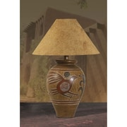 Anthony California 29'' H Indian Bird Table Lamp; Brown
