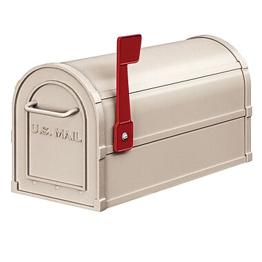 Salsbury Industries Post Mounted Mailbox w/ Outgoing Mail; Beige