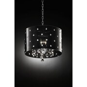 OK Lighting Star 3-Light Crystal Pendant