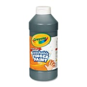Crayola Washable Finger Paint (Set of 12); Black
