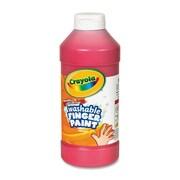 Crayola Washable Finger Paint (Set of 12); Red