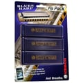 Hohner Blues Harp Pro Pack MS Harmonica in Chrome - Key of C, G, A
