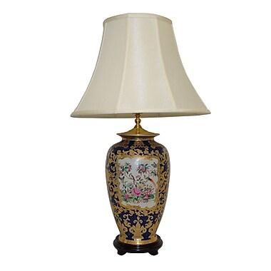 Amita Trading Scroll Medallion 31'' Table Lamp