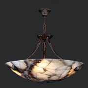 Worldwide Lighting Pompeii 4-Light Bowl Pendant