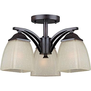 Forte Lighting 3-Light Semi Flush Mount