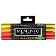 Memento Dual Tip Markers (Set of 4); Red/Orange/Yellow