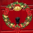 Mona Melisa Designs Peel and Play Holiday Christmas Wreath Wall Decal