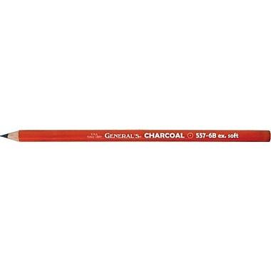 General Charcoal Pencil (Set of 12); 0.25'' H x 2'' W x 7.25'' D