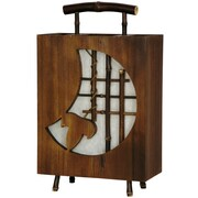 Oriental Furniture Crescent Contemporary Decorative 17'' H Table Lamp with Square Shade