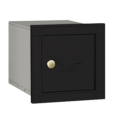 Salsbury Industries Wall Mounted Mailbox; Black