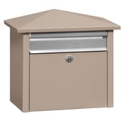 Salsbury Industries Wall Mounted Mailbox with Rain Overhang; Beige
